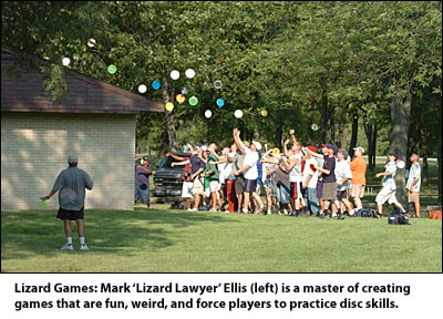 Lizard Games: Mark Ellis is a master of creating games that are fun, weird, and force players to practice disc skills.