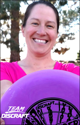 Disc Golf World Champion Valarie Jenkins / Team Discraft disc golf pro
