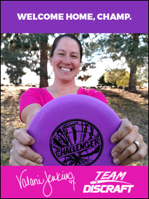 Team Discraft welcomes 4X Women's World Champion Valarie Jenkins