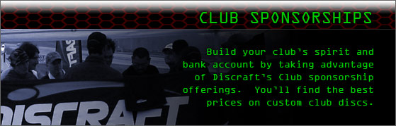 Discraft Club Sponsorships