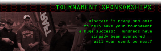 Discraft Tournament Sponsorships