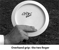 Forhand grip: two finger